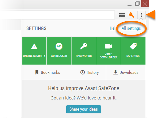 what is safe zone on avast