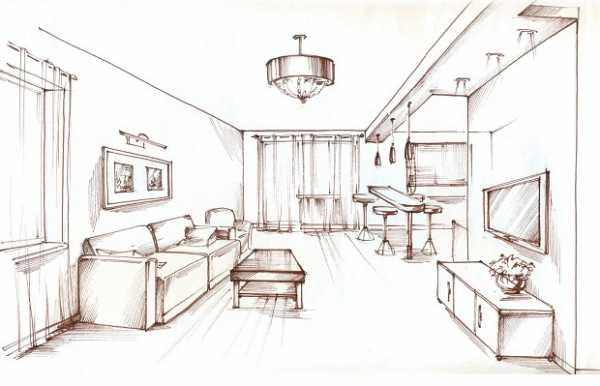как нарисовать детскую комнату карандашом поэтапно рисунок комнаты